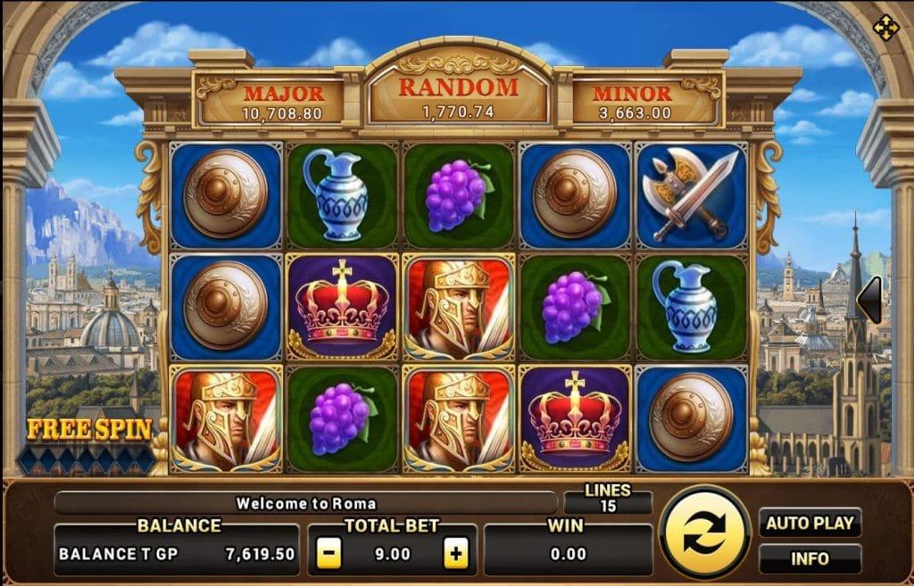 เกมแจกเงิน สล็อตROMA เกมพนันออนไลน์ บนเว็บ SBOBET